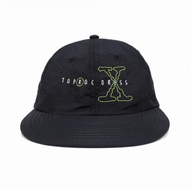 X nylon cap (BLACK)