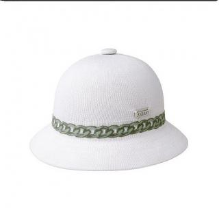 KANGOL CHAIN HAT WHITE