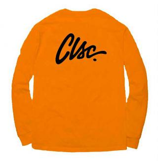 SCRIPT L / S T-Shirt / ORANGE