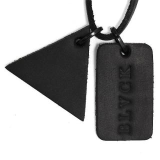 Black Scale Lether Dog Tag